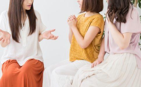 相談する女性